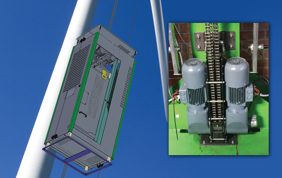 Bauer BK17 for Wind Turbine Elevator