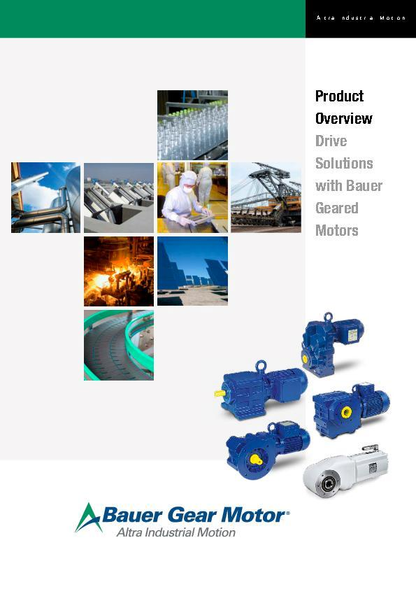 (A4 ) Product Overview Bauer Gear Motors